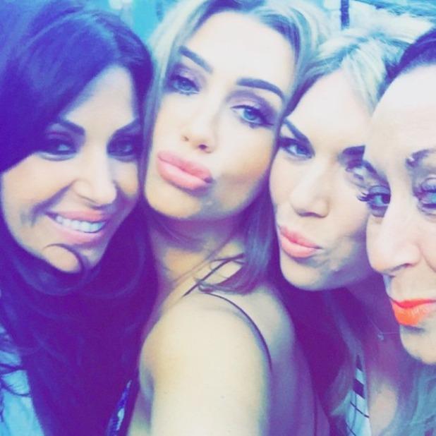 Lauren Goodger, Frankie Essex and Cara Kilbey attends Billi Mucklow's baby shower, 3 May 2015