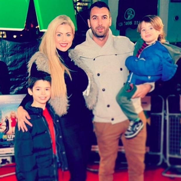 Tom Williams and wife Nicola McLean attend premiere in March 2014