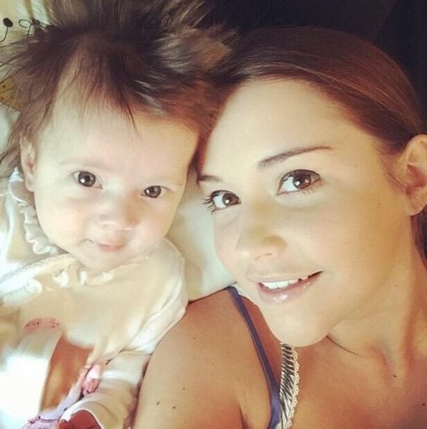 Dan Osborne shares photo of Jacqueline and Ella on Instagram, 6th May 2015