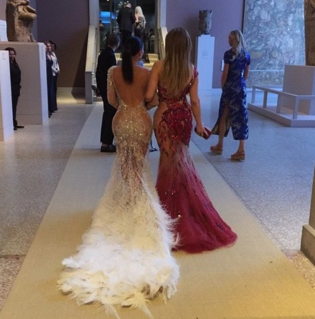 Kim Kardashian and Jennifer Lopez show off bottoms at Met Gala in New York - 5 May 2015.