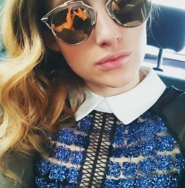 Made In Chelsea star Rosie Fortescue shares picture of her new dress on Instagram, 7th May 2015