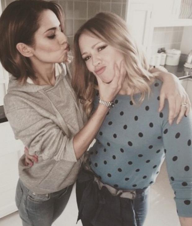 Cheryl Fernandez-Versini and Kimberley Walsh, Instagram 5 April