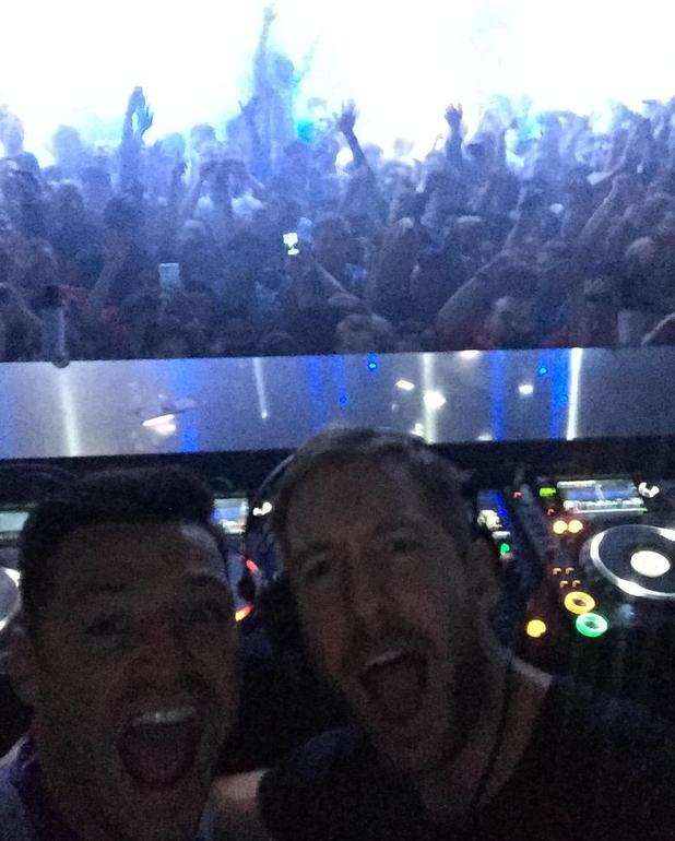 Mark Wright celebrates his stag do in Vegas with Calvin Harris, 9 May 2015