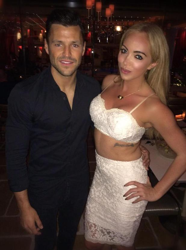 Mark Wright bumps into Big Brother star Aisleyne Horgan-Wallace as he kicks off his stag do in Las Vegas - 7 May 2015.