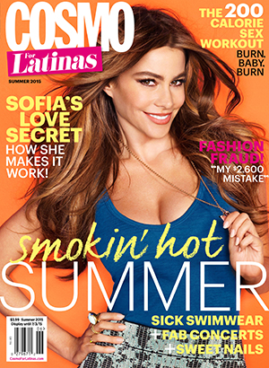 Sofia Vergara as cover star of May issue of Cosmo for Latinas
