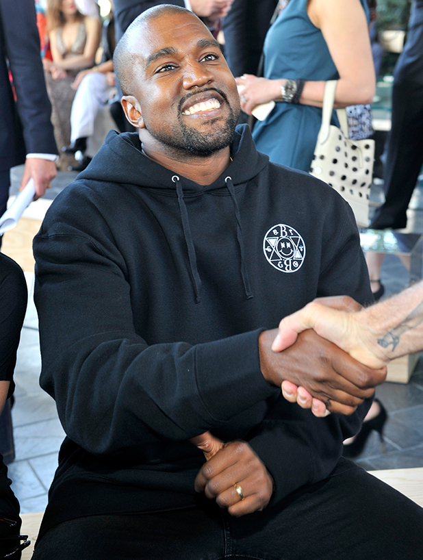 Kanye West attends the Louis Vuitton Cruise 2016 Resort Collection shown at a private residence on May 6, 2015 in Palm Springs, California.