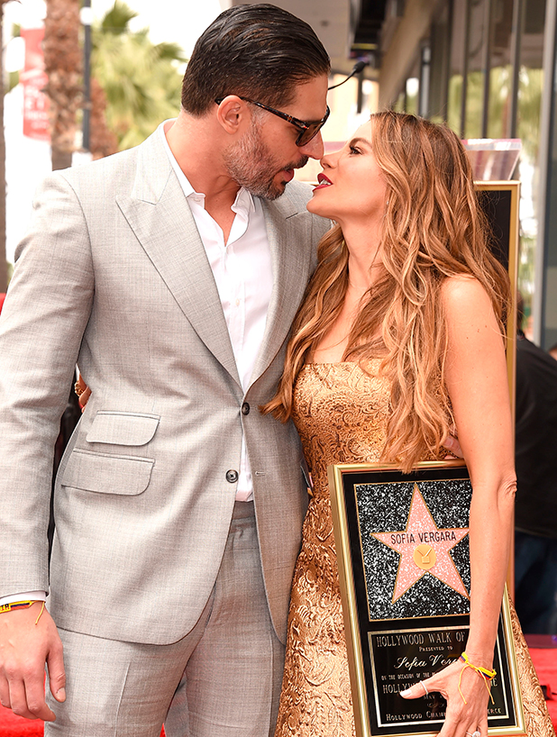 Joe Manganiello and Sofia Vergara Honored With Star On The Hollywood Walk Of Fame on May 7, 2015 in Hollywood, California.