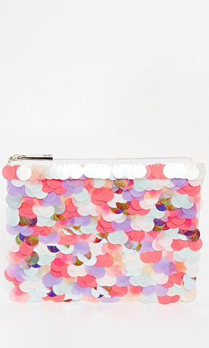 Sequin clutch bag from Asos £35