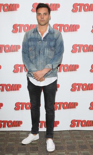 Andy Jordan at the Stomp 13th Birthday Gala Night at the Ambassadors Theatre, London - 05/11/2015.