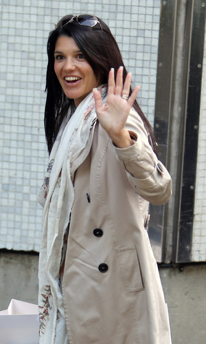 Natalie Anderson outside ITV Studios - 13 May 2015.