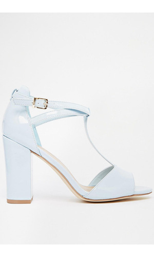 New Look blue t bar heels £19.99