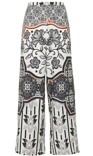 Topshop wide leg printed trousers £38