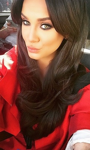 Vicky Pattison filming for Judge Geordie, London 13 May