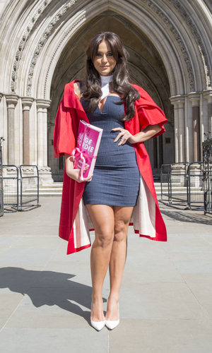 Vicky Pattinson attends a photocall to launch MTV's 'Judge Geordie' at the Royal Courts of Justice, London 13 May