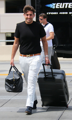 James 'Arg' Argent leaves Las Vegas after Mark Wright stag, 11th May 2015