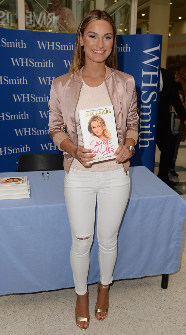 Sam Faiers signs copies of her second autobiography, 'Secrets and Lies: The truth behind the headlines' in Stoke-on-Trent - 9 May 2015.