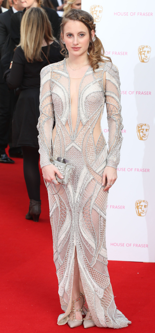Made In Chelsea's Rosie Fortescue on the red carpet at the TV BAFTA Awards 10th May 2015