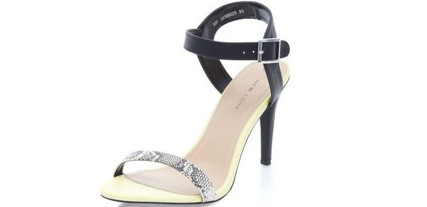 New Look barely there snake effect sandal, £19.99