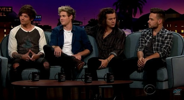 One Direction appear on The Late Late Show with James Corden - 14 May 2015.