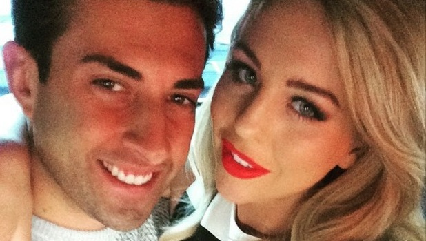 TOWIE's James Argent and Lydia Bright on their way to the 'Star Wars at Madame Tussauds' VIP opening, London, Britain - 13 May 2015