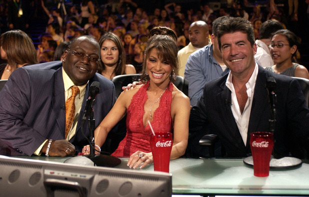 Randy Jackson, Paula Abdul and Simon Cowell during 'American Idol' Season 2 Finale - Results Show at Universal Amphitheatre in Universial City, California, United States. 21 May 2003.