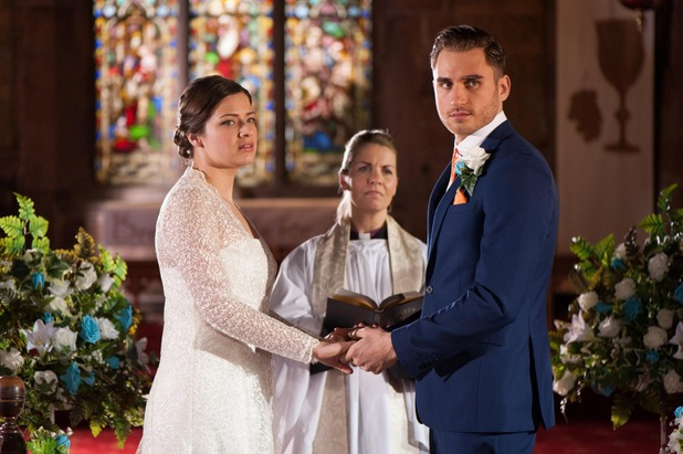 Hollyoaks, Freddie and Lindsey get married, Mon 18 May