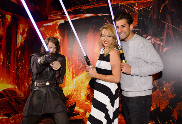 TOWIE's James Argent and Lydia Bright at the 'Star Wars at Madame Tussauds' VIP opening, London, Britain - 13 May 2015.