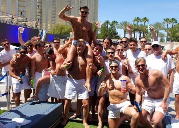 Mark Wright shares pool picture of his stag do in Vegas, 11th May 2015
