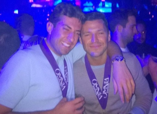 Mark Wright and James Arg Argent in Las Vegas, Twitter 10 May