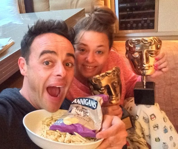 Ant McPartlin shares his BAFTA celebrations on Twitter, 10th May 2015