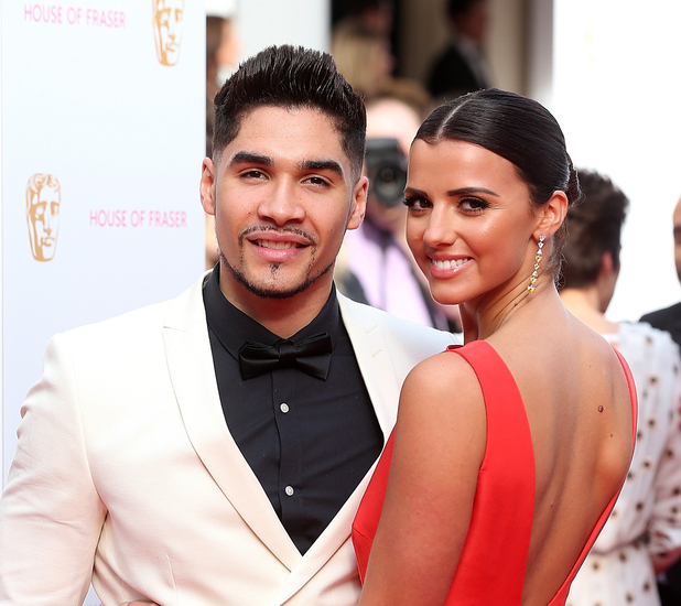 Lucy Mecklenburgh and Louis Smith on the red carpet at the TV BAFTA awards May 11th 2015