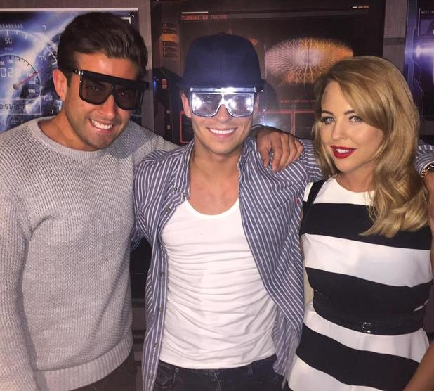 TOWIE's James Argent and Lydia Bright and ex cast member Joey Essex at the 'Star Wars at Madame Tussauds' VIP opening, London, Britain - 13 May 2015