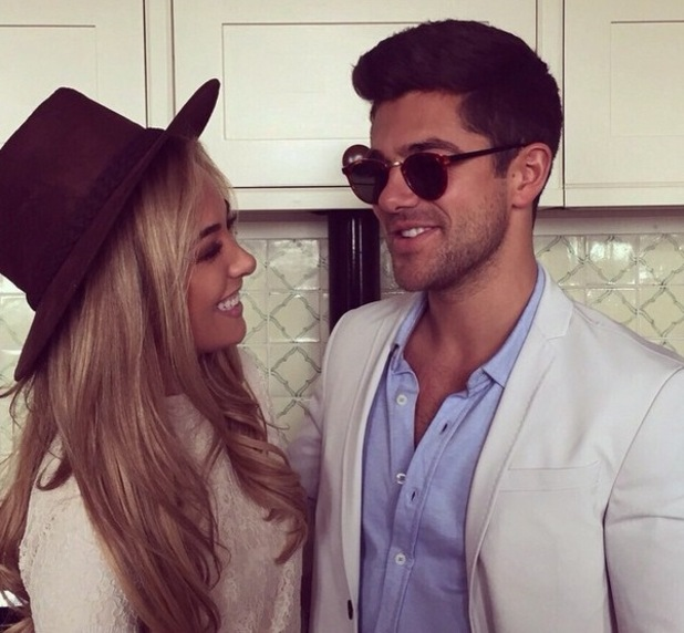 Alex Mytton and Nicola Hughes during filming, Instagram 11 May