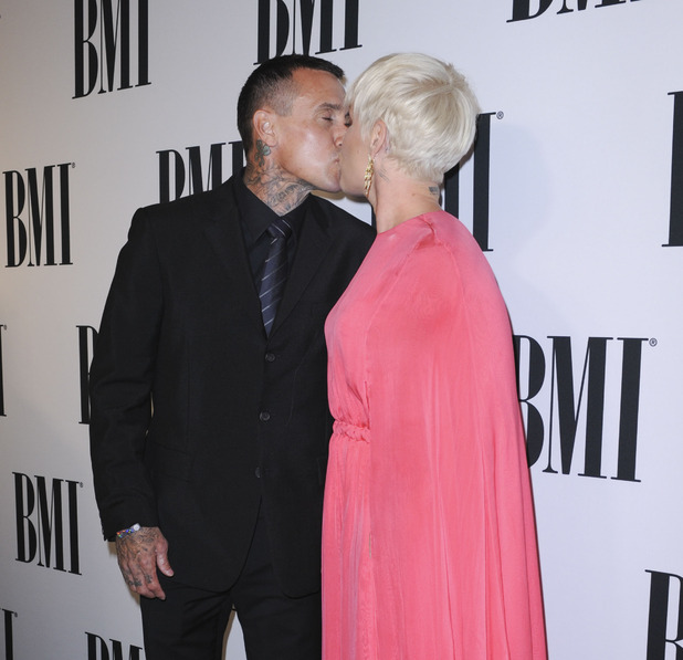 Pink and Carey Hart at the 63rd Annual BMI Pop Awards - 12 May 2015.