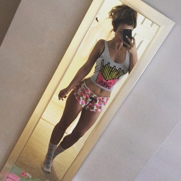 Holly Hagan takes pyjama selfie, Instagram 13 May
