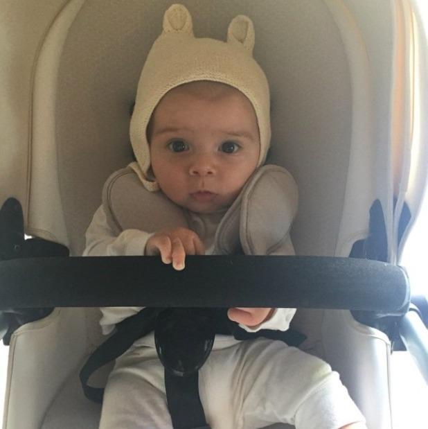 Kourtney Kardashian shares new photo of baby son Reign, 16 May 2015