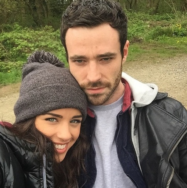 Ex Coronation Street actress Georgia May Foote on a Sunday stroll with former co-star Sean Ward - 10 May 2015.