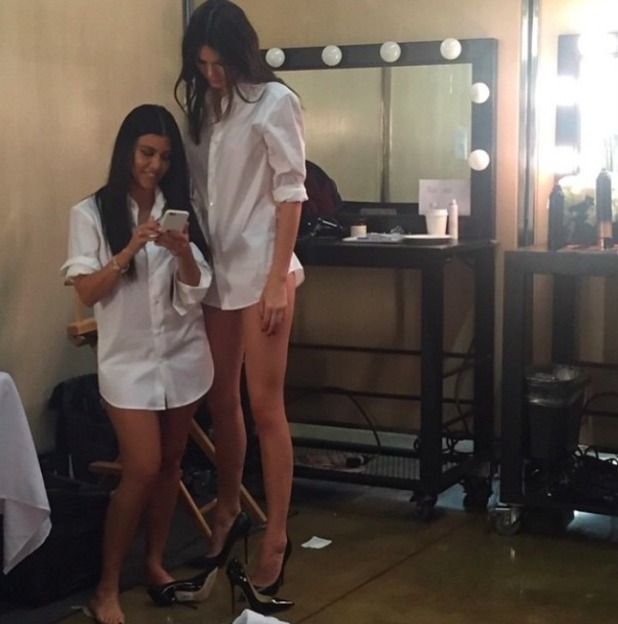 Kris Jenner shares little and large photo of daughters Kourtney Kardashian and Kendall Jenner, 16 May 2015