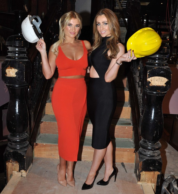 Billie Faiers and Gemma Merna announce the opening of Cathedral Garden Bar and Restaurant in Maynooth, 11th May 2015