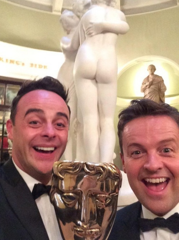 Ant McPartlin and Declan Donelly celebrate their BAFTA success on Twitter, 10th May 2015