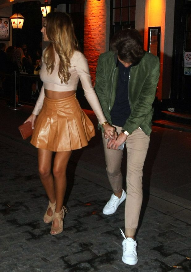 Joey Essex and Bethany Hitch leave Sugar Hut, 8 May 2015