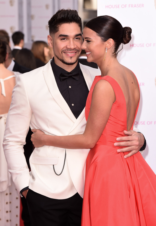 Louis Smith and Lucy Mecklenburgh at the TV Baftas - London - 10 May 2015.