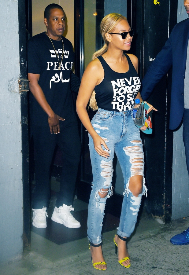 Beyonce and Jay Z out in New York 12th May 2015