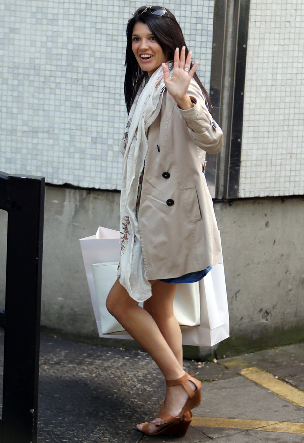 Natalie Anderson outside ITV Studios - 13 May 2015.