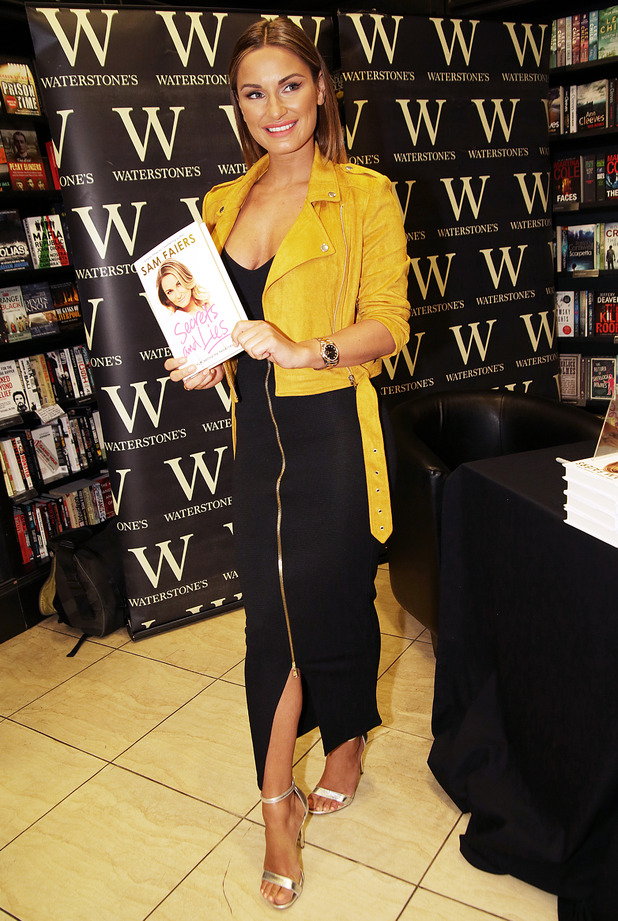 Sam Faiers signs copies of her second autobiography, 'Secrets and Lies: The truth behind the headlines' in Birkenhead - 9 May 2015.