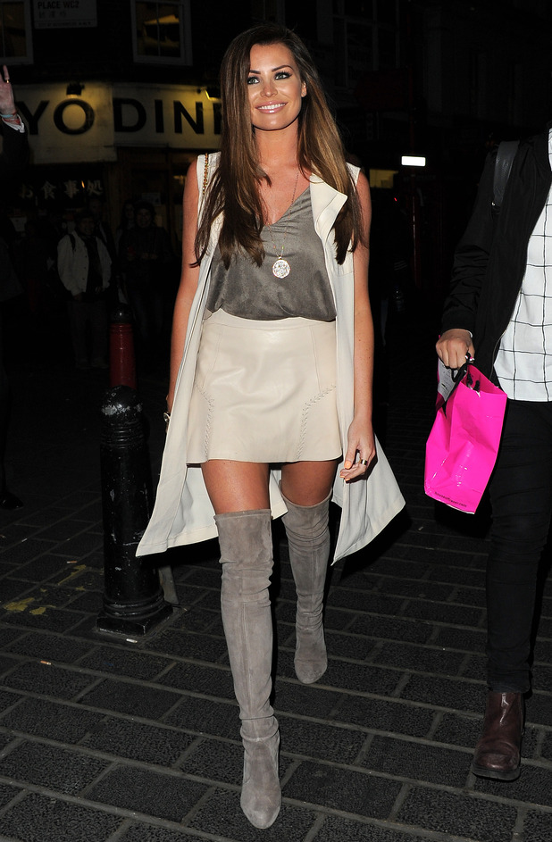 TOWIE's Jessica Wright at Style for Stroke launch party at Light Lounge - Departures - 13 May 2015.