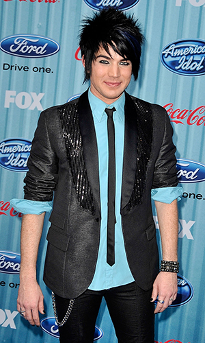 American Idol contestant Adam Lambert arrives at the American Idol Top 13 Party held at AREA on March 5, 2009 in Los Angeles, California.