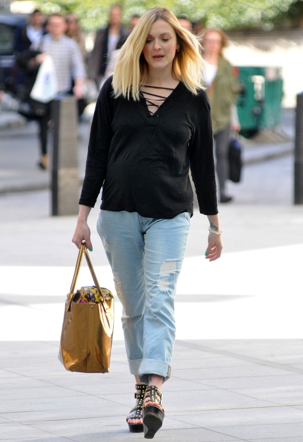Fearne Cotton arrives at the BBC Radio 1 studios
