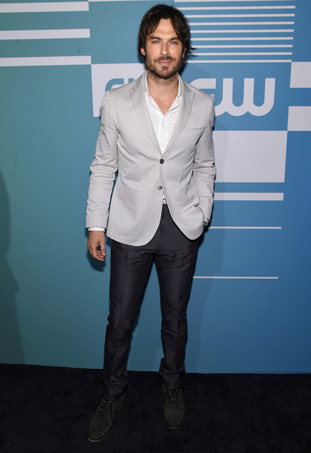 Ian Somerhalder attends the CW Network's 2015 Upfront at the London Hotel on May 14, 2015 in New York City.