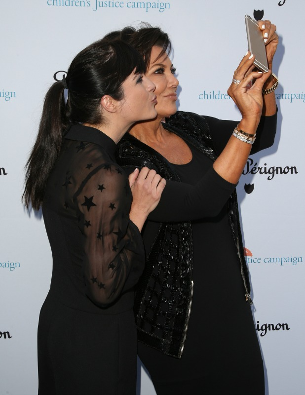 Selma Blair and Kris Jenner at The Children's Justice Campaign, May 2015